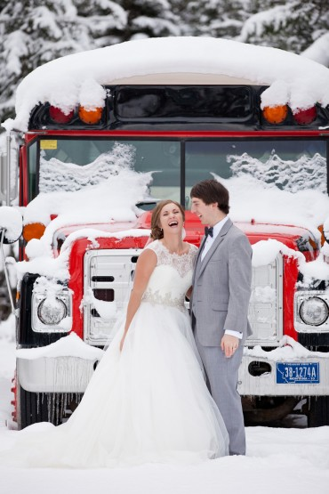 Winter Wedding Photography in Whitefish Montana