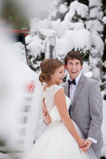 Wintery Wedding in Montana