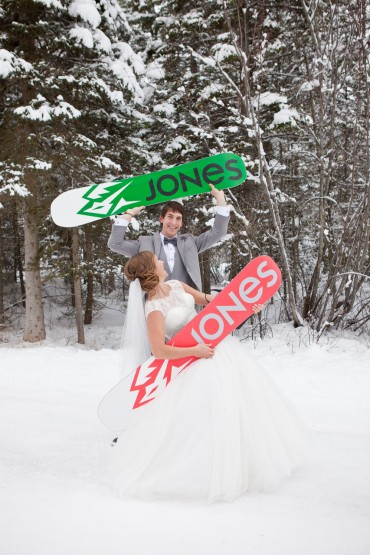 Jones Snowboard Riders Married in Montana