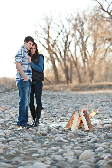 Campfire Engagement Pictures