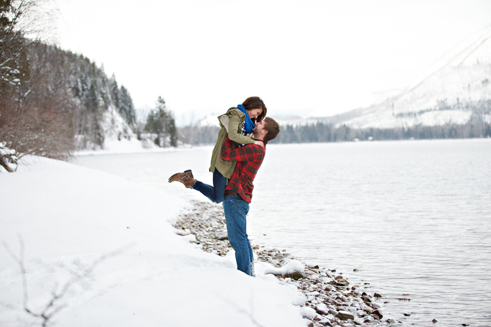 Winter wonderland engagement photography
