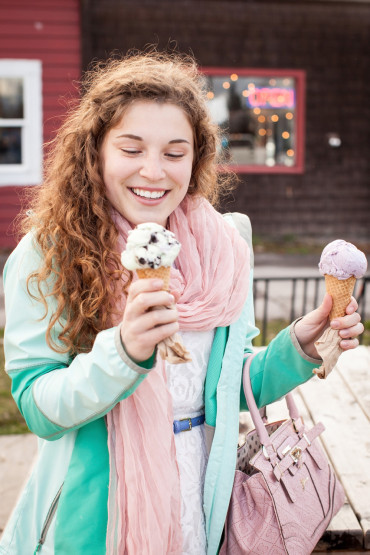 Best Ice Cream Senior Photography Session