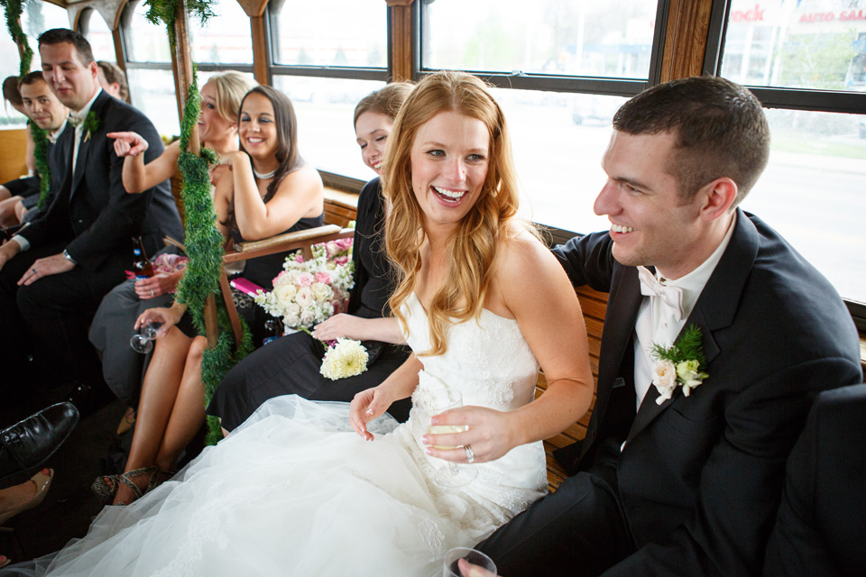 Billings Montana Trolley Wedding Pictures