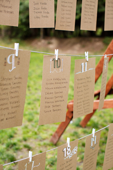 Best table seating card ideas for outdoor weddings
