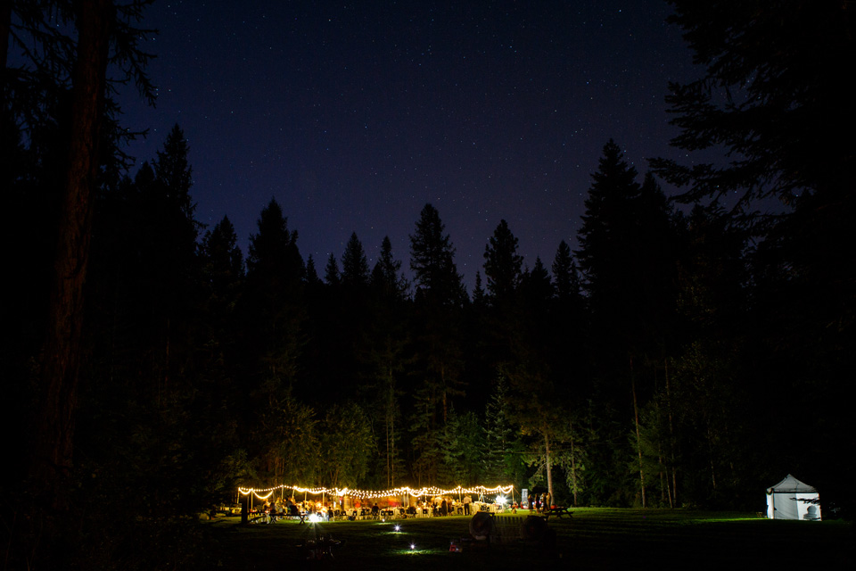 Best outdoor wedding under the stars