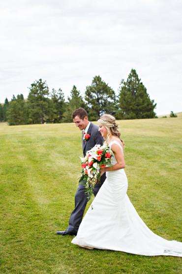 Montana golf course wedding