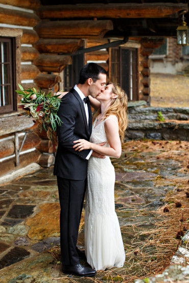 Montana black tie wedding